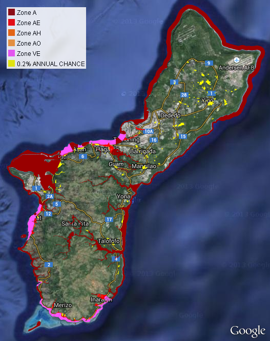Flood Hazard Zones Guam