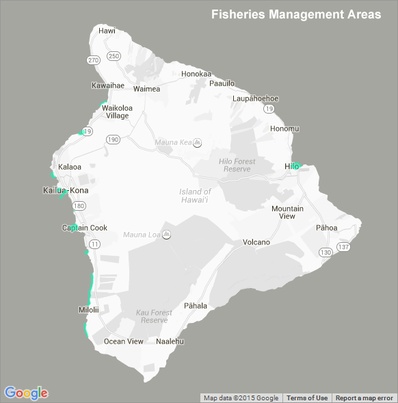 Fisheries Management Areas Hawaii