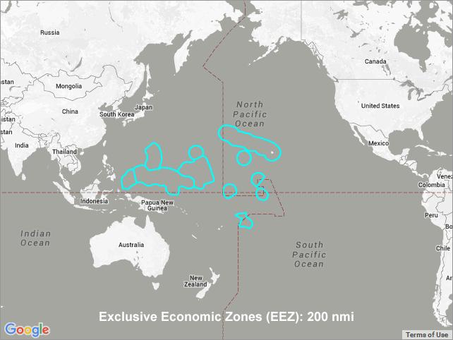 Exclusive Economic Zones Eezs U S Affiliated Pacifc