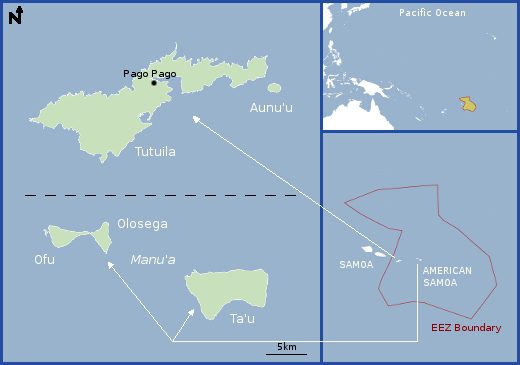 Education resources regional information american samoa pacioos american samoa map gumiabroncs Image collections