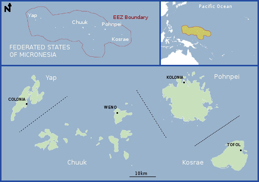 Education resources regional information federated states of map of federated states of micronesia publicscrutiny Images