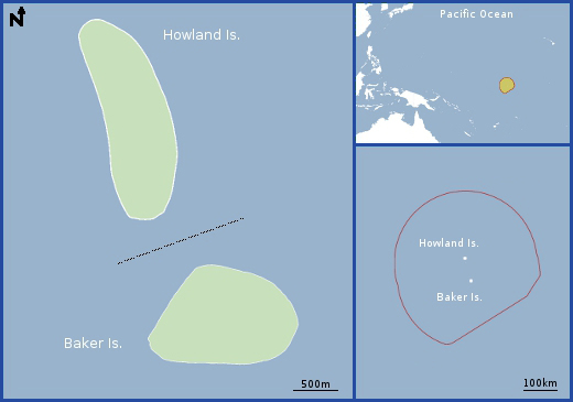 Map of Howland and Baker Island