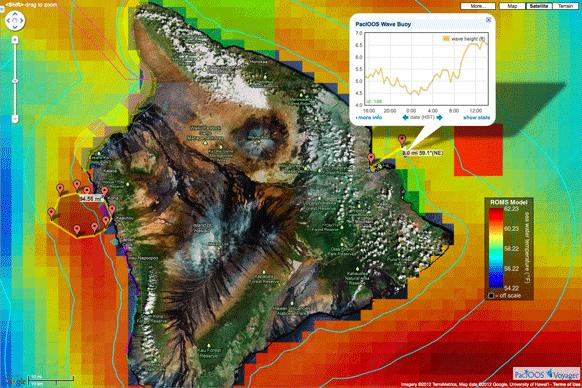 PacIOOS Voyager Spatial Planning around Hawaii Island