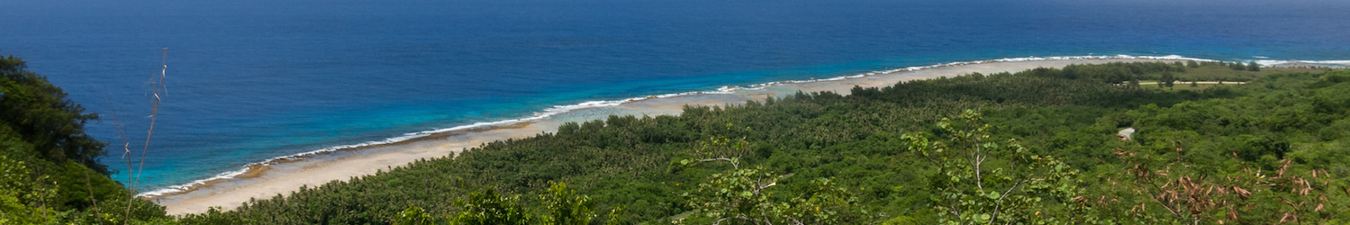 Looking out toward Ritidian Point, the northernmost point on Guam