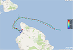 Travel time for Aʻa2 Wave Glider mission