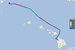 Peak wave from direction for Aʻa Wave Glider mission