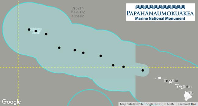 PacIOOS Voyager: Papahanaumokuakea new boundary (2016-08-26)